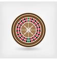 European roulette wheel casino symbol vector image