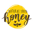 a natural honey lettering