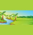 a simple nature landscape vector image vector image