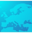 Blue map of Europe in the dots vector image vector image
