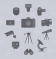camera icons set 04 vector image vector image