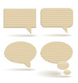 cardboard talk balloons vector image vector image