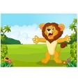 Cartoon happy lion vector image vector image