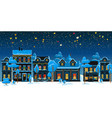 christmas vintage card with the urban landscape vector image vector image