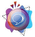 colorful bubble and shapes with google talk sign vector image vector image