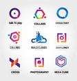 colorful logo business set collection template vector image vector image