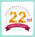 colorful polygonal anniversary logo 3 022 vector image vector image