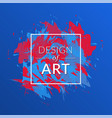 cover background with red-blue color vector image vector image