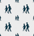 crosswalk icon sign Seamless pattern with vector image