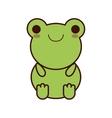 cute frog kawaii style vector image