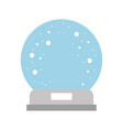 decorative crystal ball icon vector image