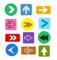 different arrows buttons icons set abstract vector image vector image