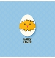easter chicken egg concept background vector image vector image