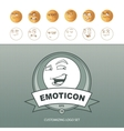 emoticons customizing vector image vector image