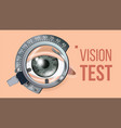 eye test banner vision correction vector image vector image