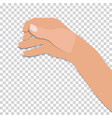 flat- hand of man holds presumed glass of vector image vector image