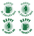green banners set with beer for st patricks day vector image vector image