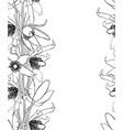 hand drawn vintage floral seamless pattern vector image