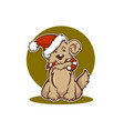 happy christmas dog new year animal symbol vector image vector image