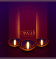 happy diwali beautiful festival greeting vector image vector image