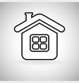 home black icon vector image