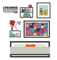 House areas design vector image