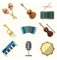 icon of musical equipment vector image vector image
