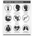 icons set symptoms tuberculosis tb vector image vector image