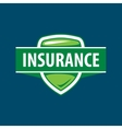 logo template for an insurance company vector image
