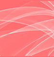 magic wave color background living coral vector image