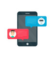 man person chatting on cellphone vector image vector image