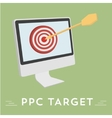 Pay per click hit the target vector image