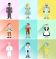 people avatar set 1 vector image vector image