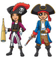 pirate kids cartoon vector image vector image