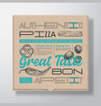 pizza realistic cardboard box container abstract vector image