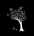 Pointilism tree vector image