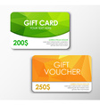 Polygonal gift card and voucher vector image vector image