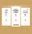 price table template design vector image vector image