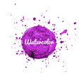 purple watercolor hand drawn splash background vector image