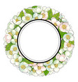 round frame of cherry blossom branches vector image vector image