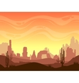 Seamless cartoon desert landscape vector image