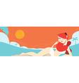 sexy Redhead beach vector image
