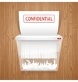 Shredding Documents for Security vector image vector image