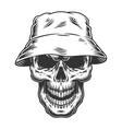 skull in the panama hat vector image vector image