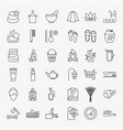 spa line icons set vector image