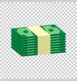 stacks of money cash in flat design on isolated vector image vector image