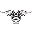 taurus tribal tattoo vector image vector image