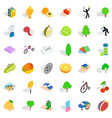 tennis icons set isometric style vector image vector image