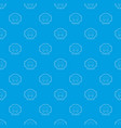 tomograph pattern seamless blue vector image vector image