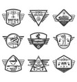 vintage monochrome military labels set vector image vector image